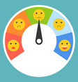 satisfaction meter satisfaction level flat design vector image