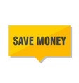 save money price tag vector image vector image