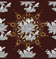 seamless vintage pattern on brown neutral and vector image