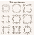 Set of frames Hand-drawn calligraphic and vector image vector image