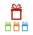 Set of gift boxes with place for text vector image vector image
