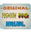 Set of lettering sketches vector image vector image