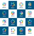 set of logos union people vector image vector image