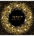 Splash of gold glittering spangled banner New vector image vector image