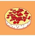strawberry pie vector image