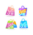 super sale shopping bags collection bright vector image
