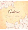 Template with abstract wavy striped leaves vector image vector image