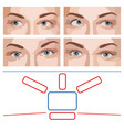 test for ophthalmology vector image vector image