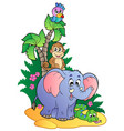 various cute african animals 1 vector image vector image