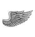 vintage eagle wing template vector image vector image