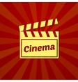 Watching a movie typography vector image vector image