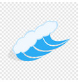 water wave isometric icon vector image vector image