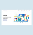 web site design template computer hardware vector image vector image