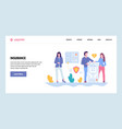 web site gradient design template family vector image vector image