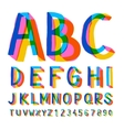 Creative colorful alphabet and numbers vector image