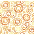 Sunny faces seamless pattern background vector image