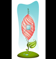 Fantasy cartoon house vector image
