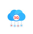 5g network icon with a cloud vector image
