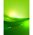 Abstra background green curve and layed element vector image vector image