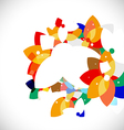 abstract colorful floral shape concept background vector image vector image