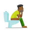 african-american man suffering from constipation vector image vector image