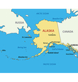 Alaska - map vector image