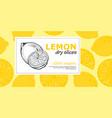 banner with lemon label packaging design vector image vector image