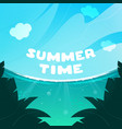 blue sky with ocean breeze summer time vector image vector image