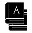 books - text books icon vector image vector image