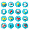 Business and commerce icon set in flat design vector image