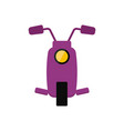 cartoon scooter for travelling vector image