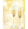 champagne bubbles background vector image vector image