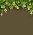Christmas Holiday Background with Fir Twigs and vector image vector image