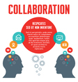 Collaboration - with Human Heads vector image