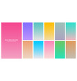 colorful soft gradients set for mobile app vector image vector image