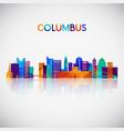 columbus skyline silhouette vector image vector image