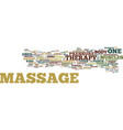 common types massage therapy text vector image vector image