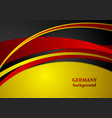 Corporate wavy abstract background German colors vector image vector image
