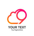 creative abstract number nine cloud logo design vector image vector image