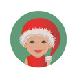 cute smiling baby santa claus emoticon vector image