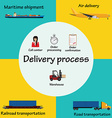 delivery process vector image