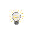 doodle lightbulb with idea word within glass and vector image