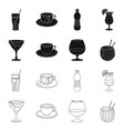 drink and bar sign set of vector image vector image