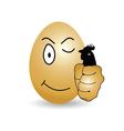 egg cartoon happy vector image vector image