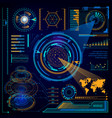futuristic digital interface touchscreen computer vector image vector image