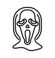 ghost face line vector image