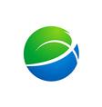 globe earth ecology logo vector image vector image