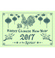 green Banner for happy Chinese New Year of the vector image vector image