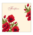 greeting card with bouquet of poppies vector image vector image