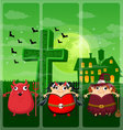 Halloween and background set 2 vector image